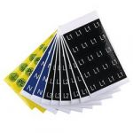 Device markers, Label, 16 x 16 mm, Acrylic-coated fibre webbing, Colour: Yellow 1707350006 Weidmüller 1 ks